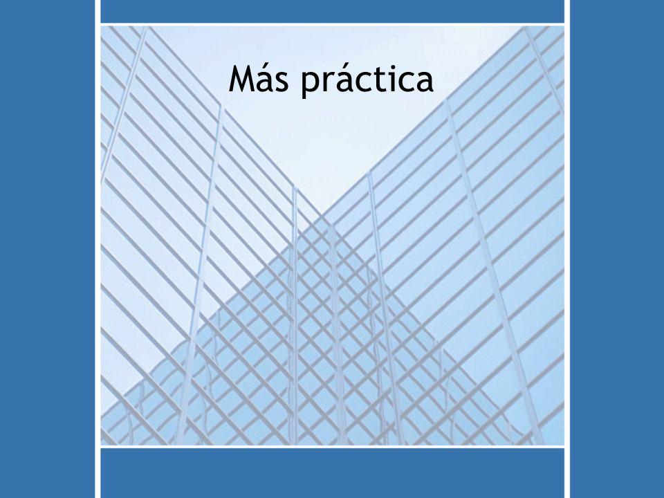 Más práctica