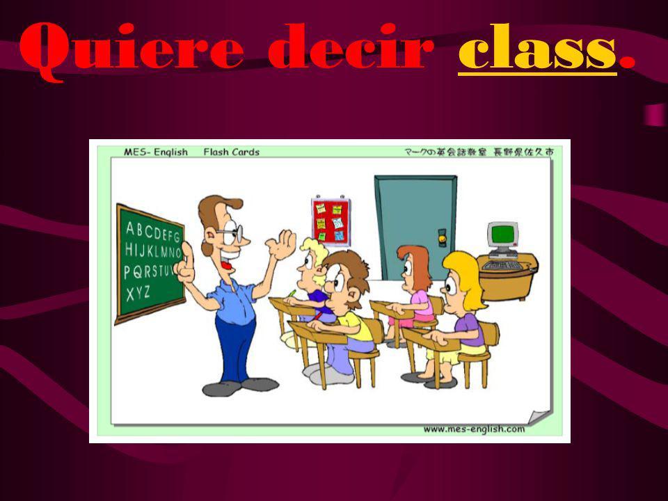 ¿Qué quiere decir clase?