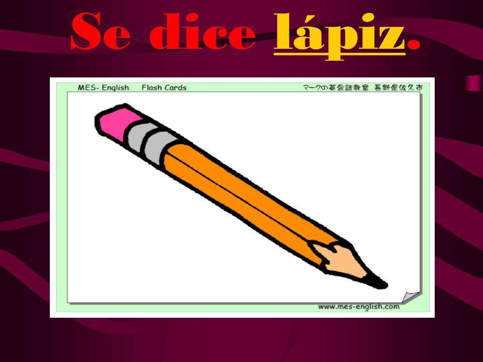 ¿Cómo se dice pencil en español