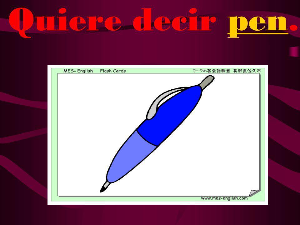 ¿Qué quiere decir bolígrafo