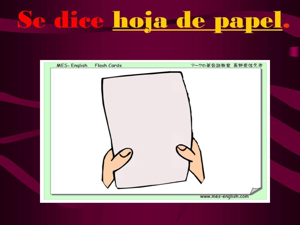 ¿Cómo se dice paper en español?