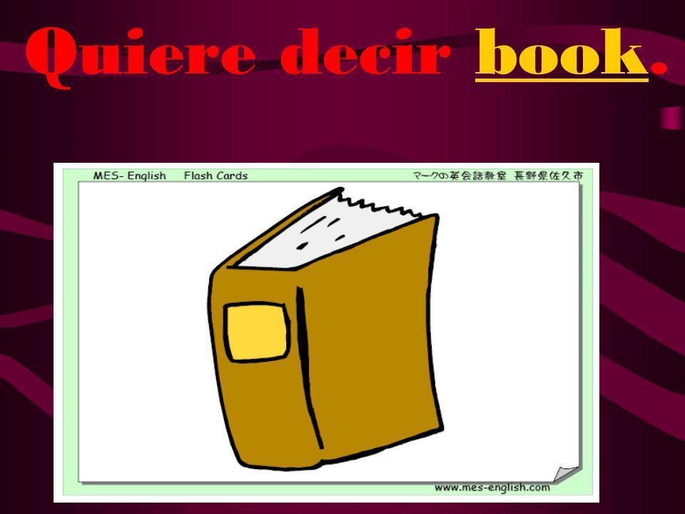 ¿Qué quiere decir libro?