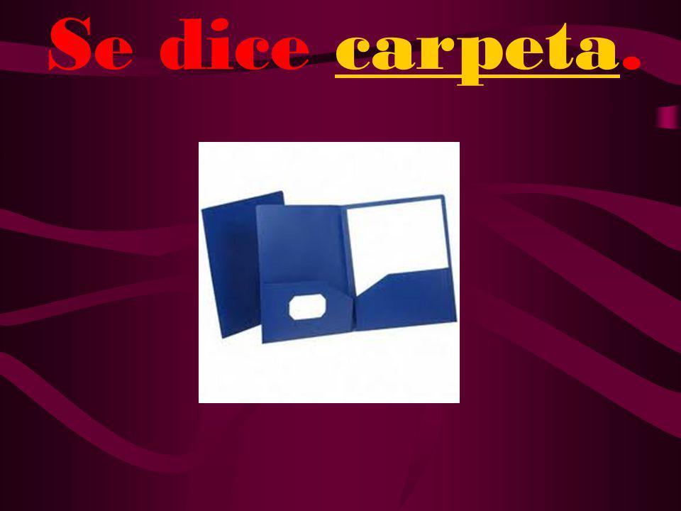 ¿Cómo se dice folder en español?
