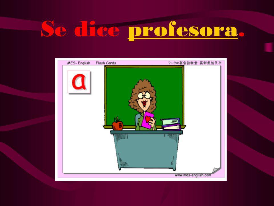 ¿Cómo se dice female teacher en español?