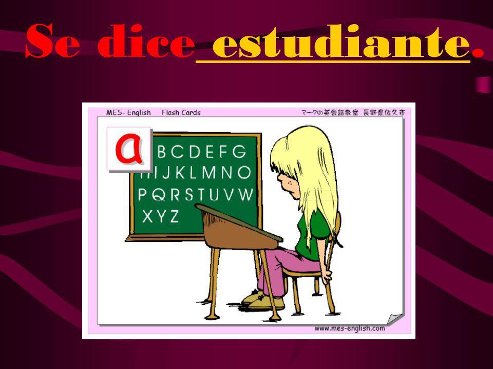 ¿Cómo se dice girl student en español