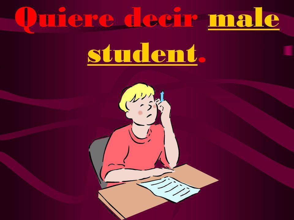 ¿Qué quiere decir estudiante?