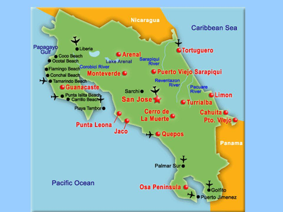 Costa Rica Costa Rica Capital: San José ¿Dónde está : América Central Población: 4 millones Superficie: 19,730 sq.