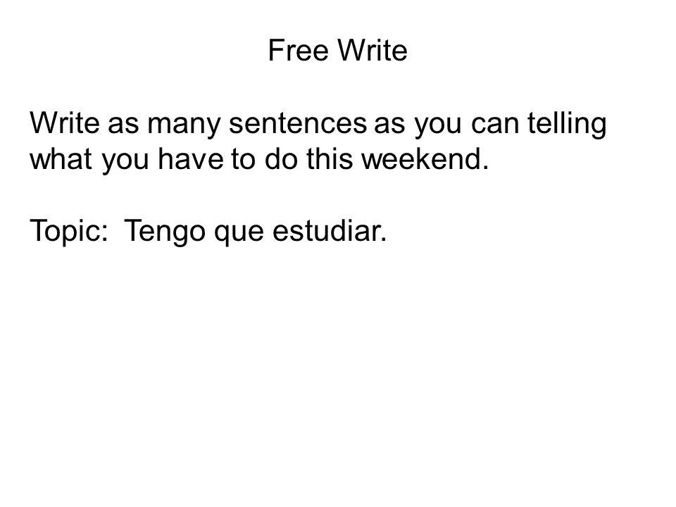 TENER + QUE + INFINITIVE TENER + QUE + INFINITIVE = TO HAVE TO. Tengo que ir = I have to go. ¿Tienes que estudiar? = Do you have to study?