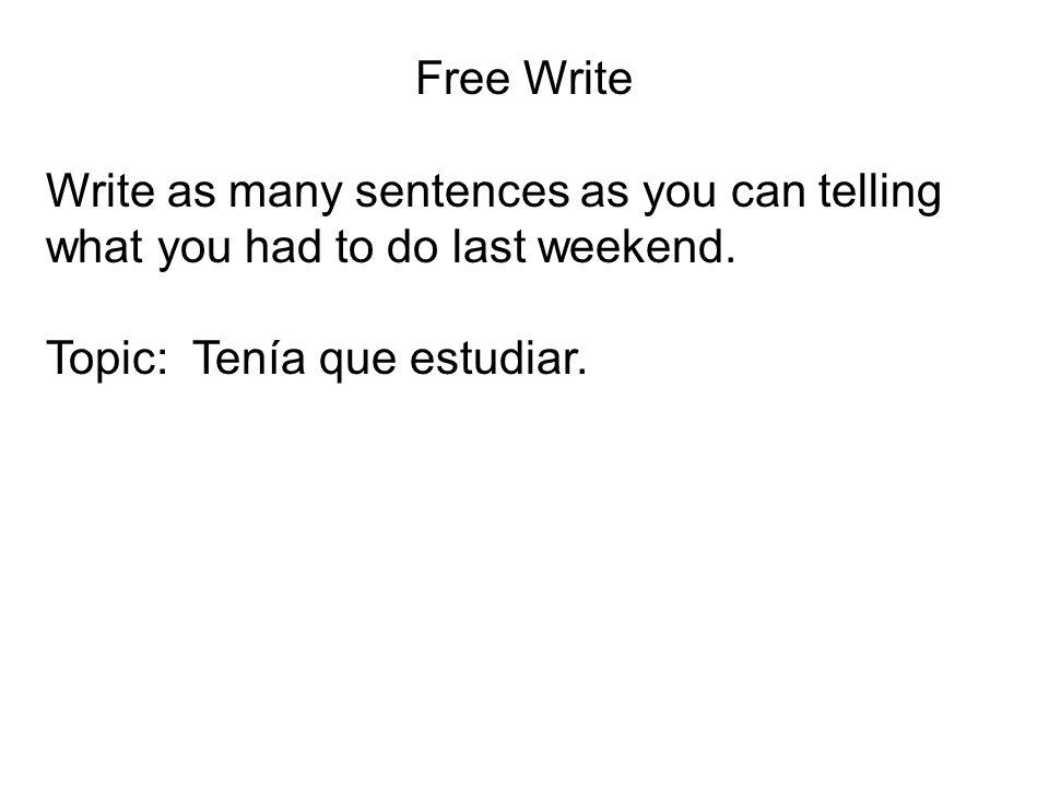 TENER + QUE + INFINITIVE TENER + QUE + INFINITIVE = TO HAVE TO. Tenía que ir = I had to go. ¿Tenías que estudiar? = Did you have to study?