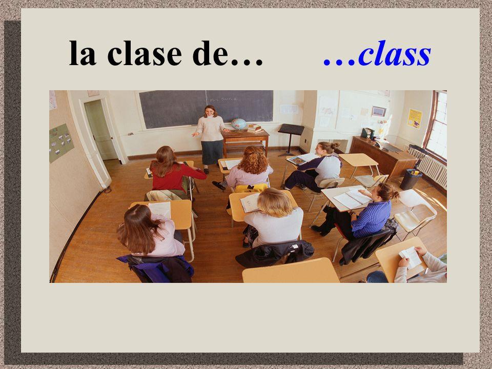 Mi día escolar My school day