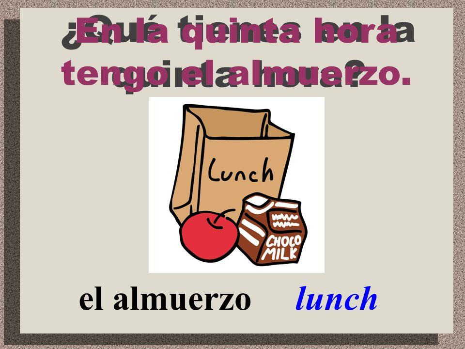 español Spanish ¿Qué clase tienes en la cuarta hora? En la cuarta hora tengo la clase de español.