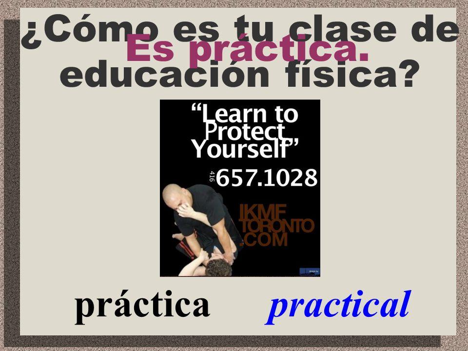 divertida fun ¿Cómo es tu clase de español? Es divertida.