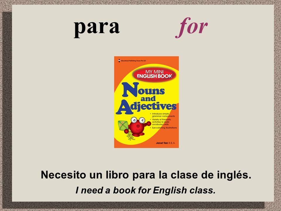 Necesito _______. ¿Qué necesitas para la clase de ____?