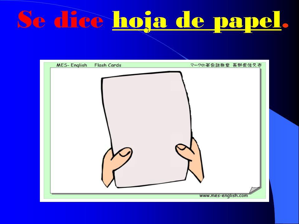 ¿Cómo se dice paper en español