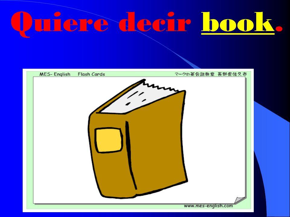 ¿Qué quiere decir libro