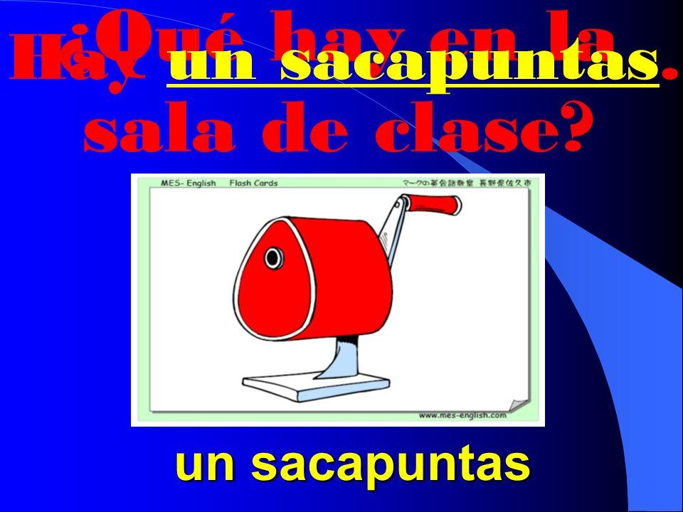 ¿Qué hay en la sala de clase Hay un disquete. un disquete un disquete