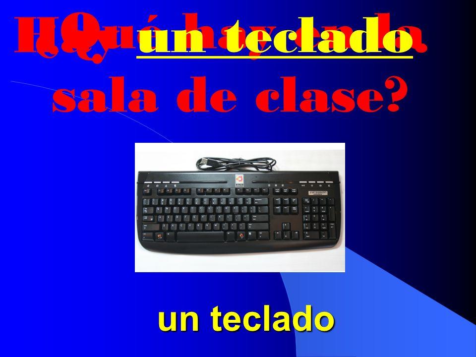 ¿Qué hay en la sala de clase Hay un ratón. un ratón