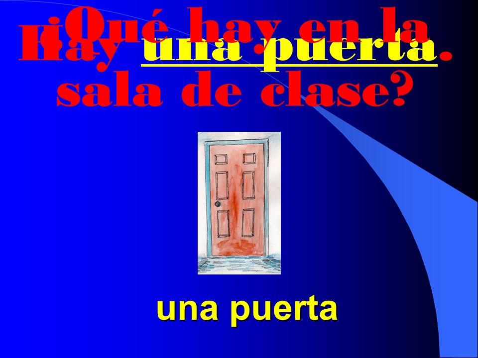 ¿Qué hay en la sala de clase Hay una ventana. una ventana