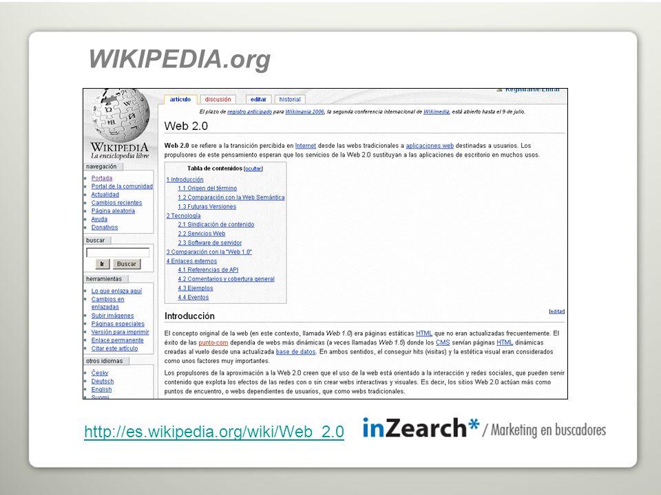 http://es.wikipedia.org/wiki/Web_2.0 WIKIPEDIA.org