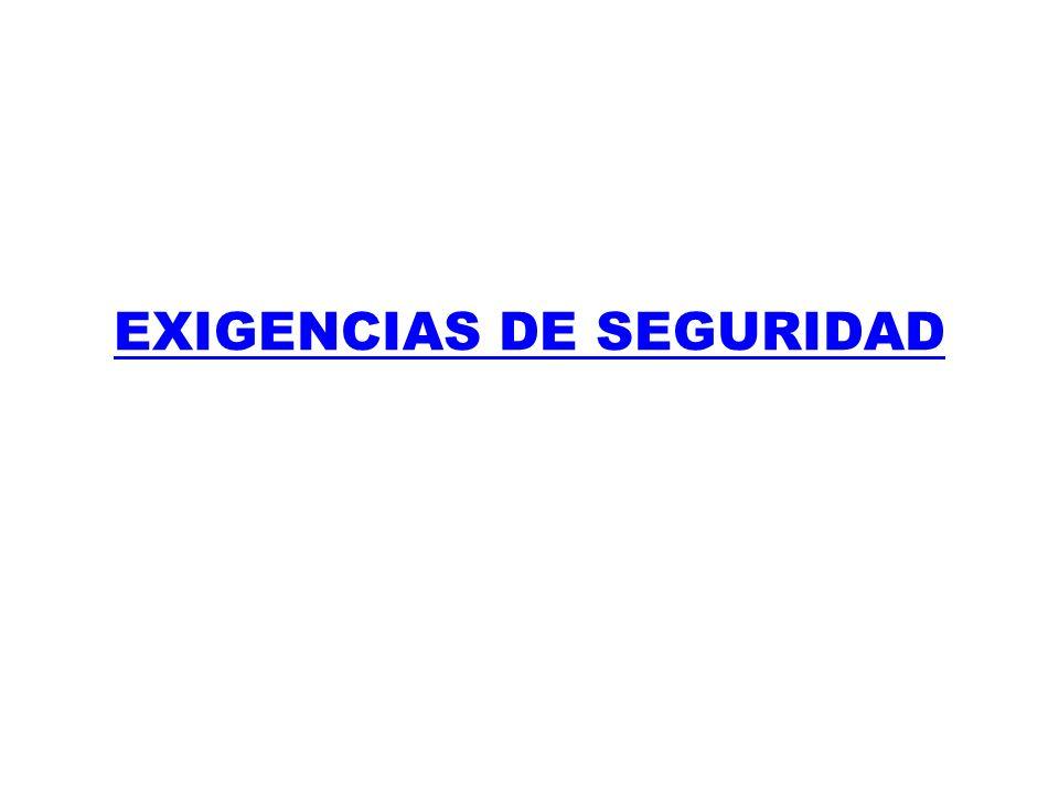 EXIGENCIAS DE SEGURIDAD
