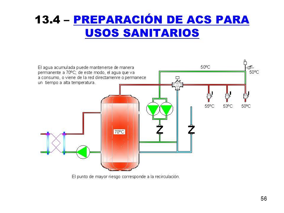 56 13.4 – PREPARACIÓN DE ACS PARA USOS SANITARIOS