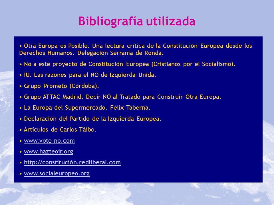 Otra Europa es Posible. Una lectura crítica de la Constitución Europea desde los Derechos Humanos. Delegación Serranía de Ronda. No a este proyecto de