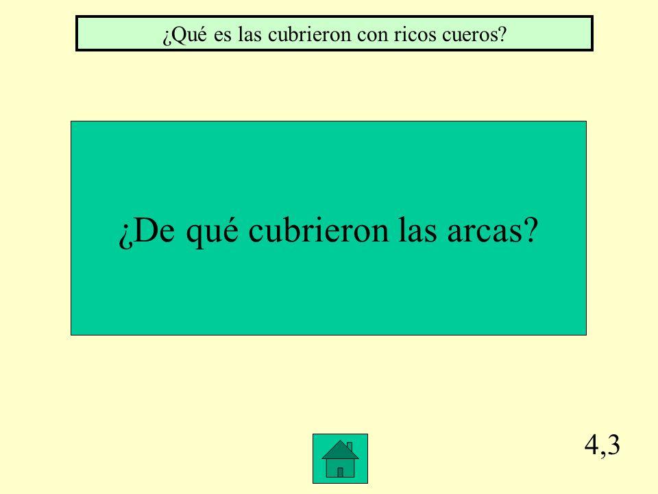 4,2 ¿Qué es llenaron las arcas con arena ¿De qué llenaron las arcas
