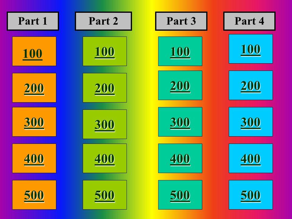 100 200 400 300 400 Part 1Part 2Part 3Part 4 300 200 400 200 100 500 100
