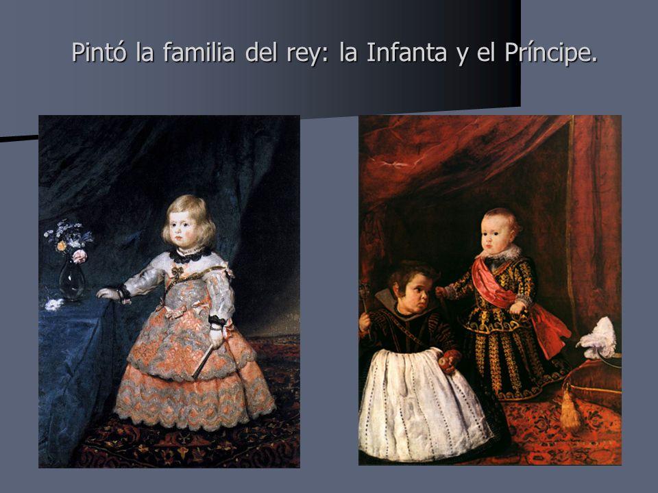 Pintó la familia del rey: la Infanta y el Príncipe.