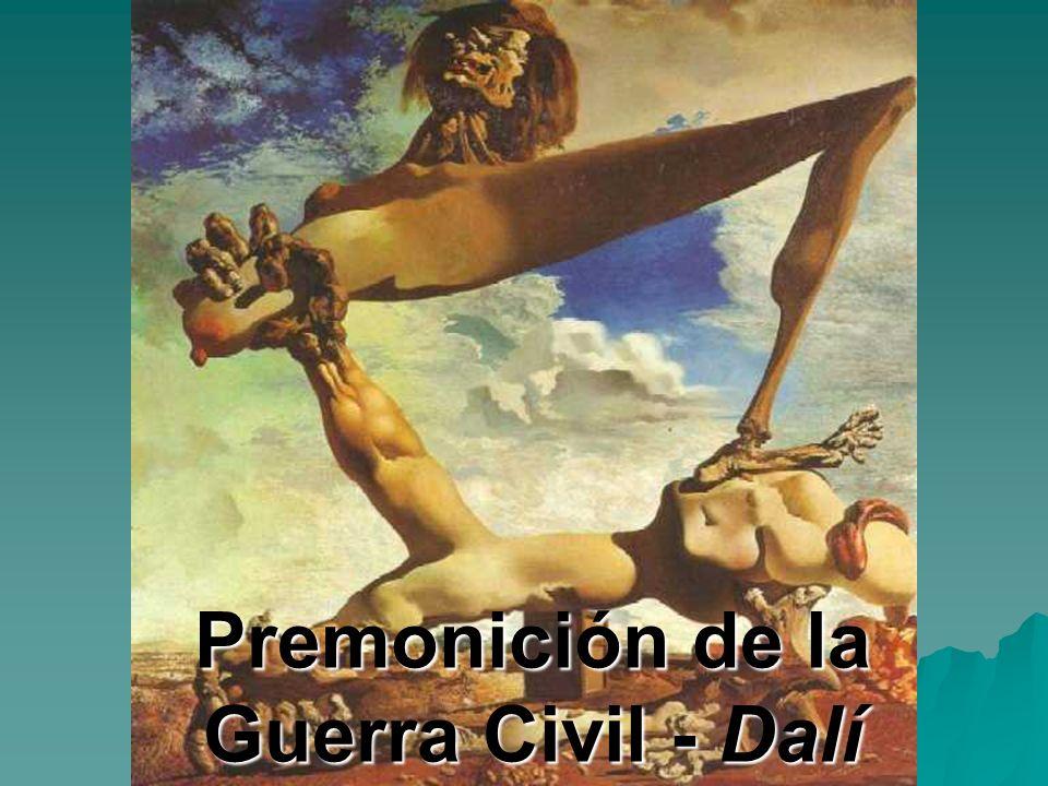 Premonición de la Guerra Civil - Dalí
