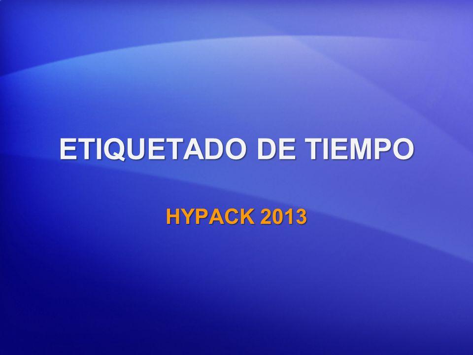ETIQUETADO DE TIEMPO HYPACK 2013