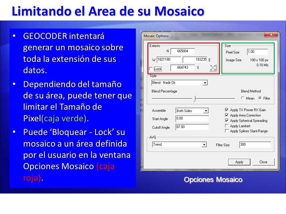 GEOCODER intentará generar un mosaico sobre toda la extensión de sus datos. GEOCODER intentará generar un mosaico sobre toda la extensión de sus datos