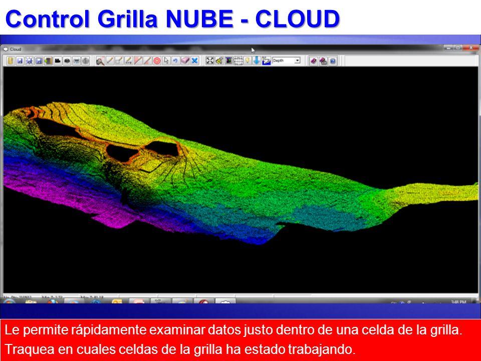 Control Grilla NUBE - CLOUD Le permite rápidamente examinar datos justo dentro de una celda de la grilla. Traquea en cuales celdas de la grilla ha est