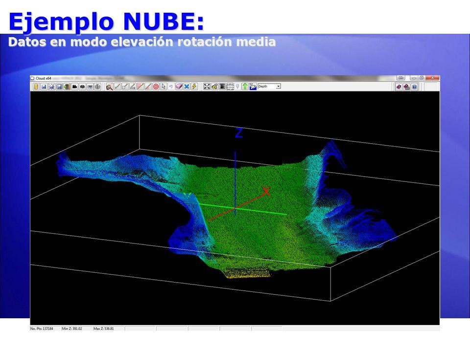 Ejemplo NUBE: Datos en modo elevación rotación media 5