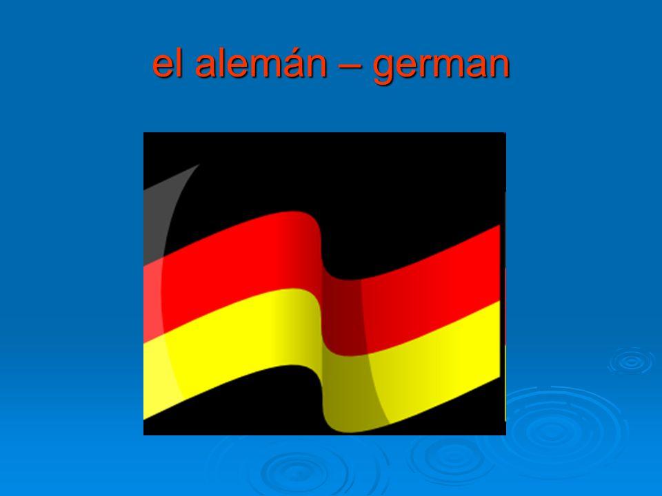 el alemán – german