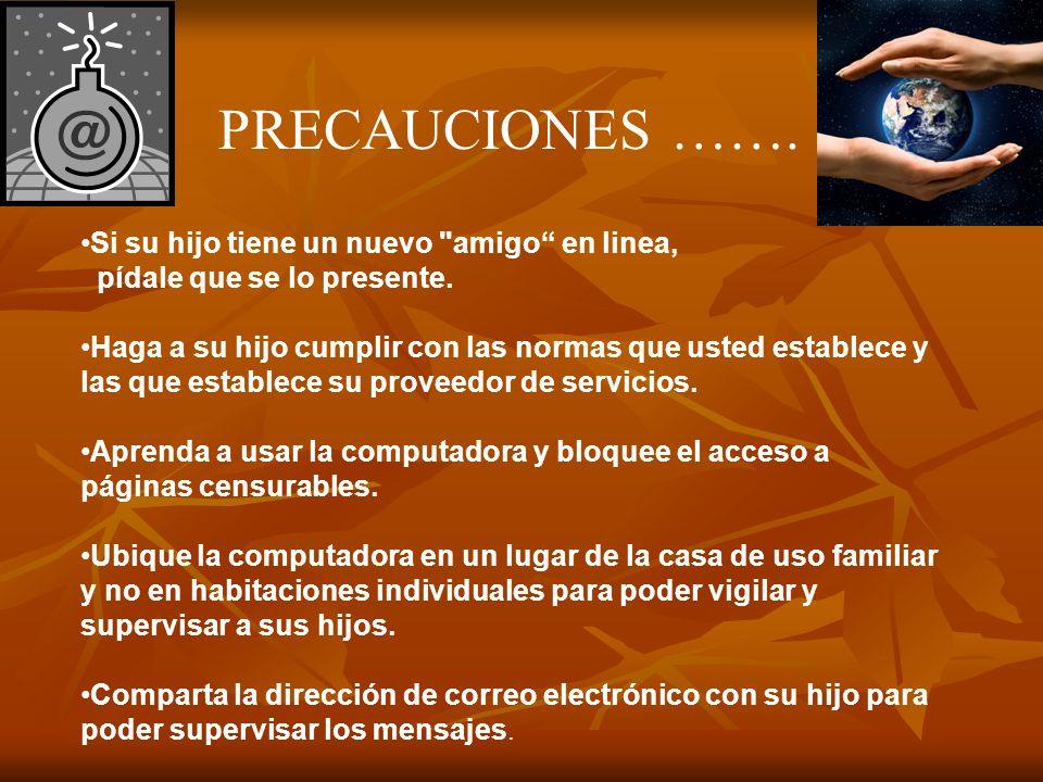 MAS PRECAUCIONES..
