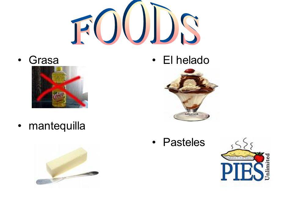 Grasa mantequilla El helado Pasteles