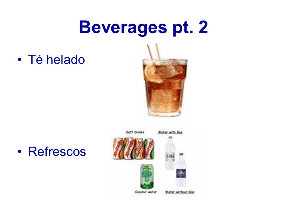 Beverages pt. 2 Té helado Refrescos