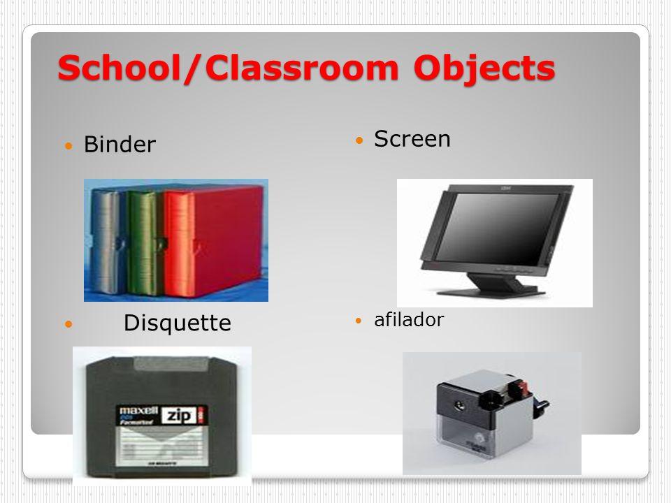 School/Classroom Objects mesa bandera cartel cartera