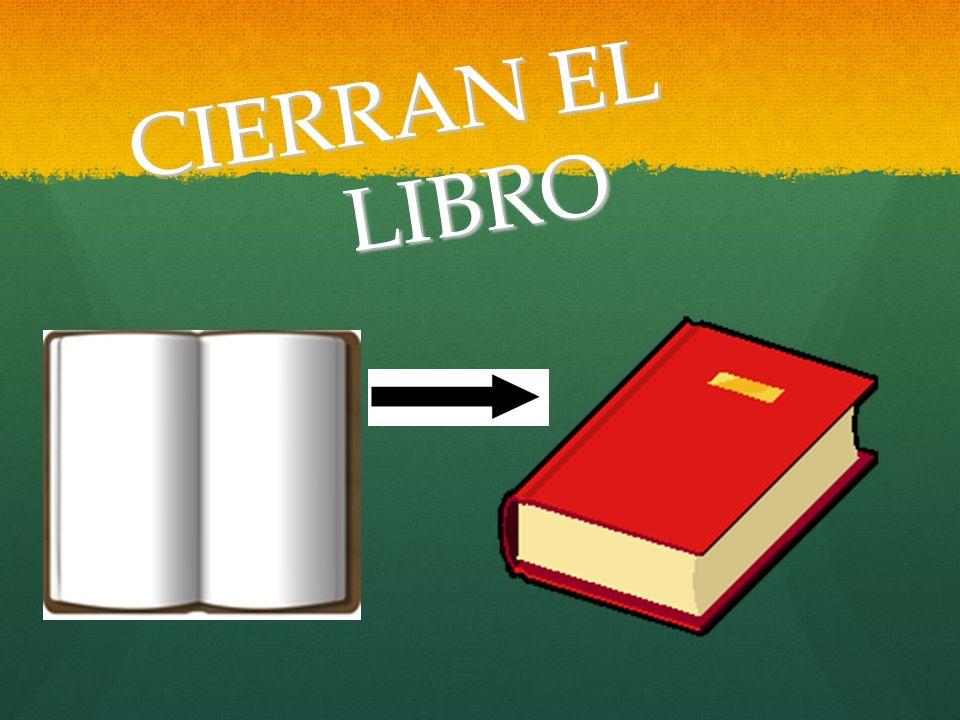 CIERRAN EL LIBRO