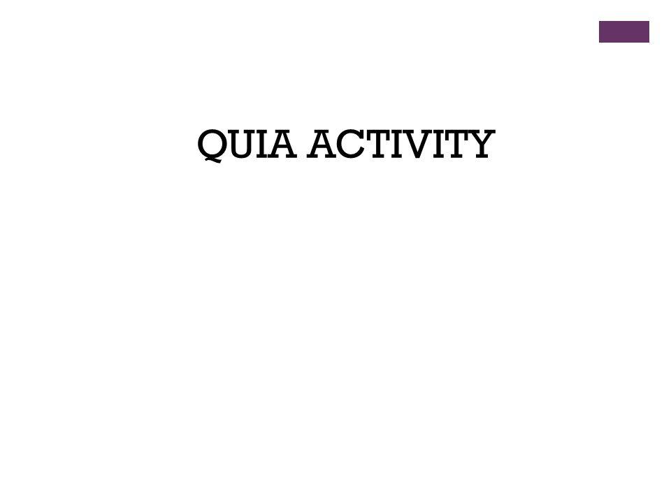 QUIA ACTIVITY