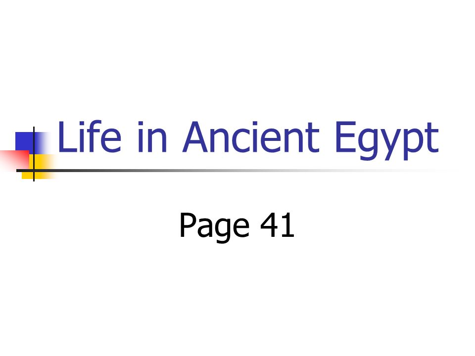 Life in Ancient Egypt Page 41