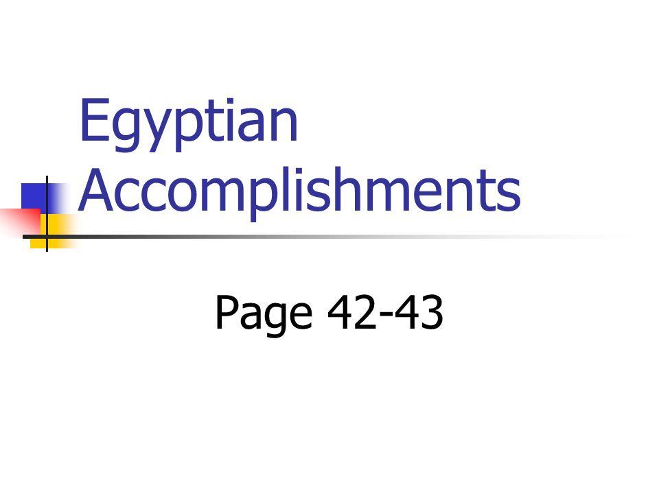 Egyptian Accomplishments Page 42-43