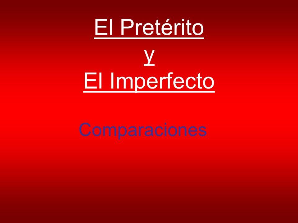 El Pretérito y El Imperfecto Comparaciones