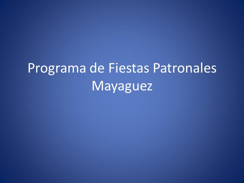 Programa de Fiestas Patronales Mayaguez