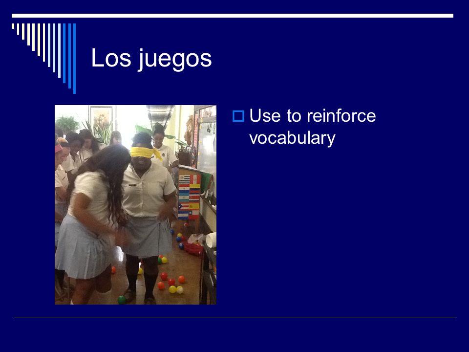 Los juegos Use to reinforce vocabulary