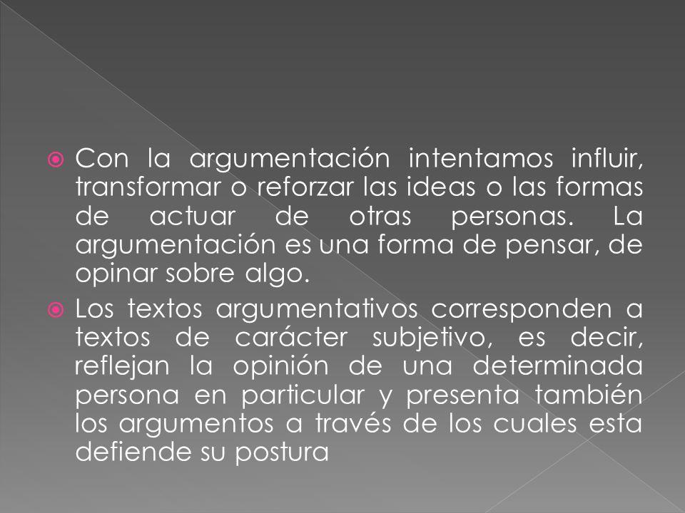 Convencer: El emisor fundamenta lógicamente su argumento, es decir, entrega razones aceptadas como verdaderas.
