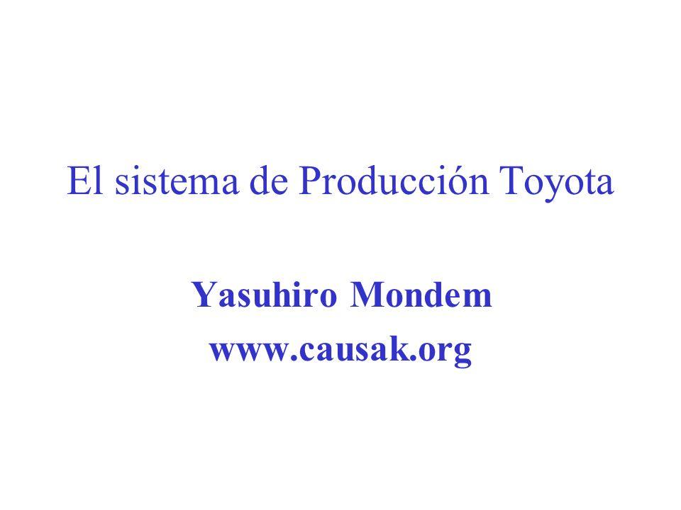 El sistema de Producción Toyota Yasuhiro Mondem www.causak.org