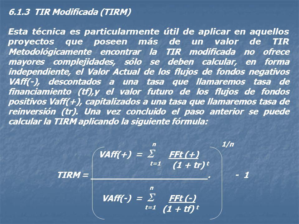 En estos casos la TIR calculada se compara contra un parámetro de referencia, llamado tasa de corte (TC), que no es otra cosa que una medida que cada