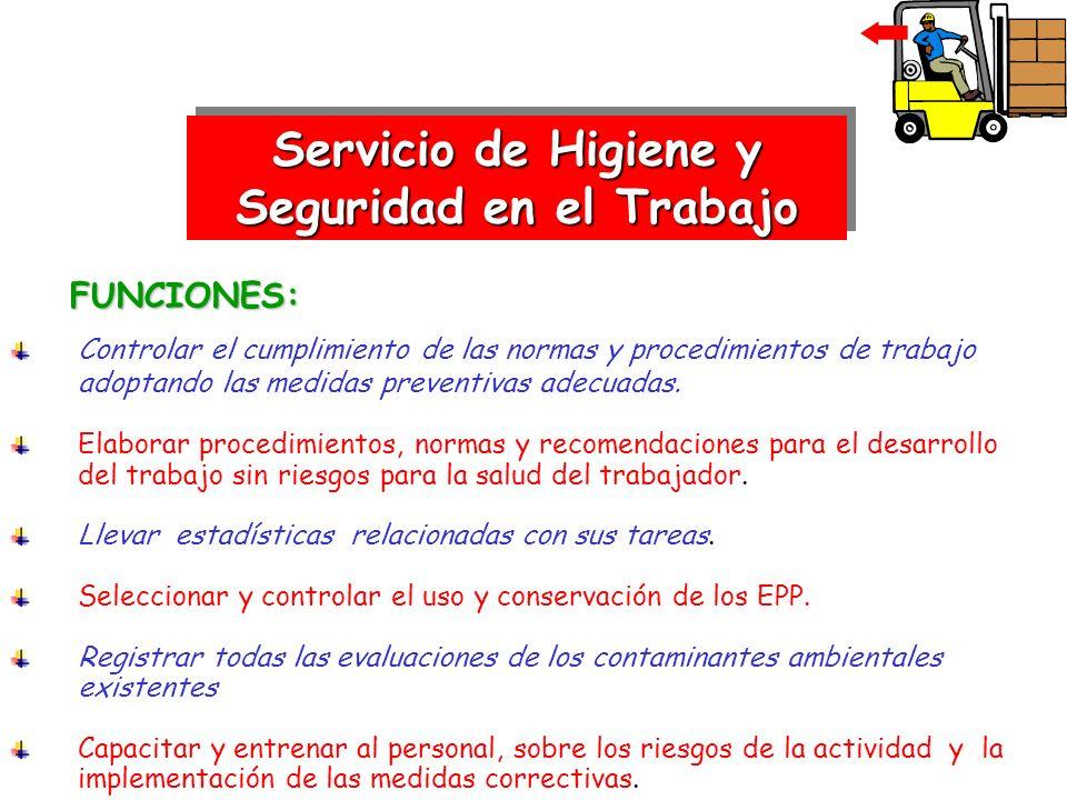 FUNCIONES: FUNCIONES: Controlar el cumplimiento de las normas y procedimientos de trabajo adoptando las medidas preventivas adecuadas. Elaborar proced